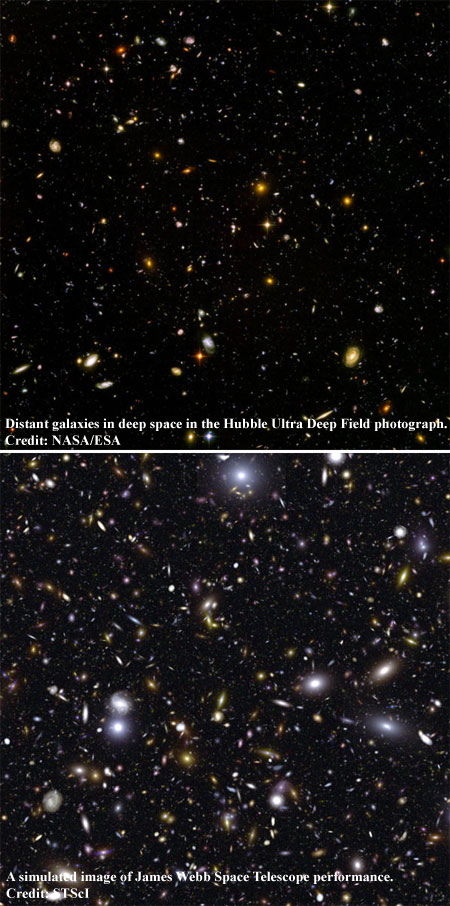 Hubble vs. James Webb