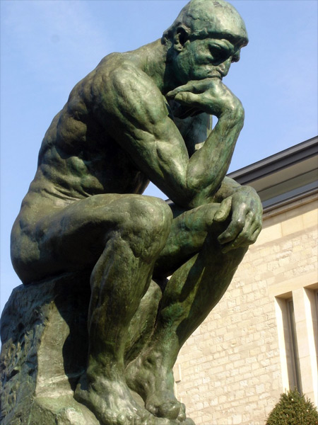 Rodin Thinker/Penseur Statue photo