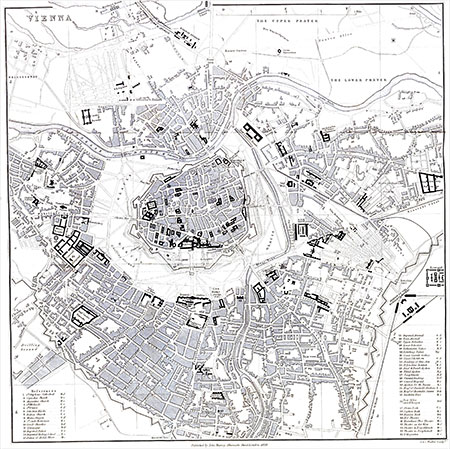 Map of Vienna, 1958 image