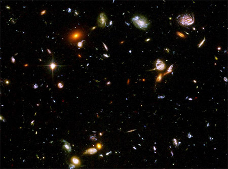 Galaxies from deep space photo