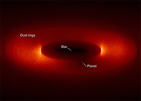 NASA Dust Rings Exoplanets image