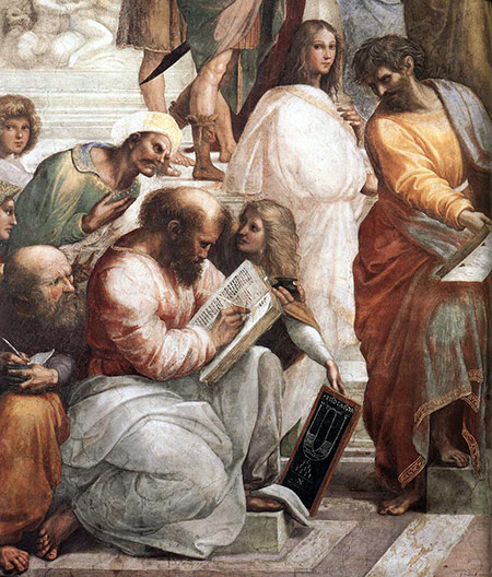Raffaello Sanzio - Pythagoras photo