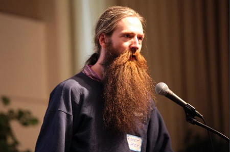 Aubrey de Grey at BIL Conference photo