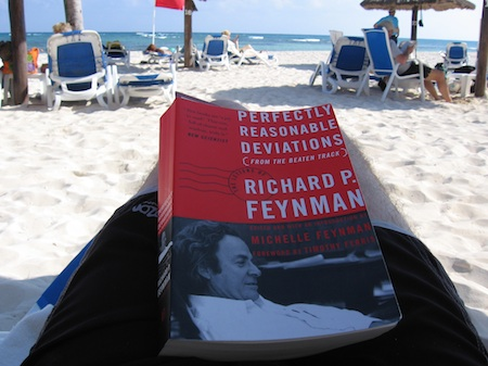 Reading on the beach in Cancun, taken by Michael Graham Richard